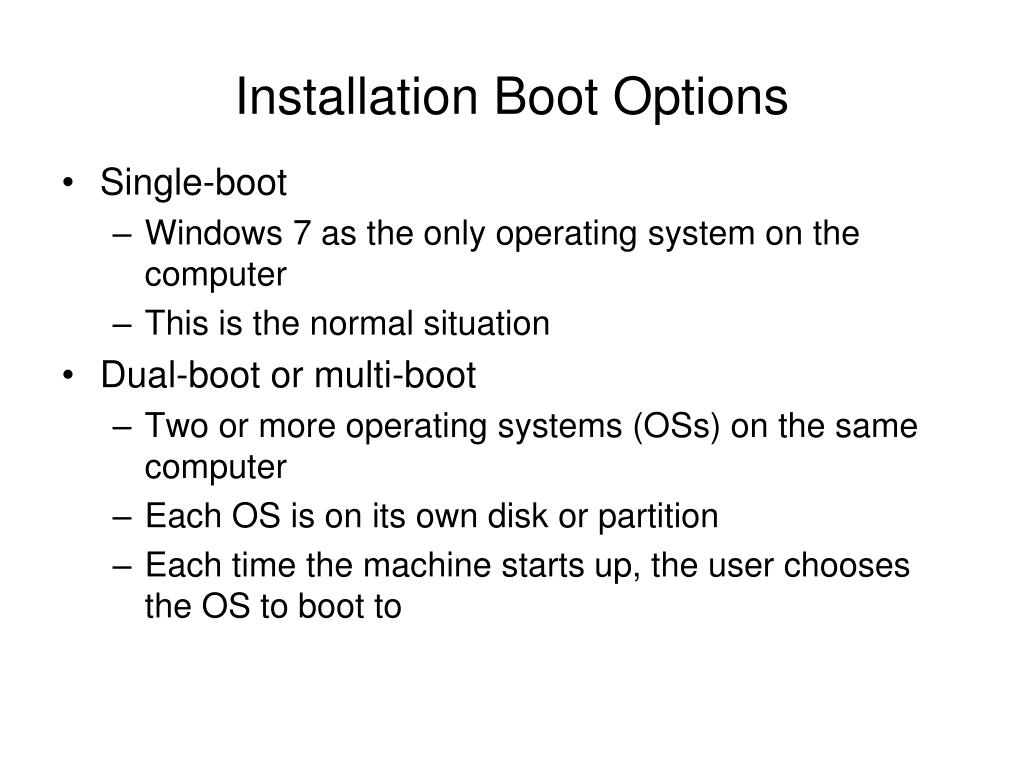 Installation Boot Options