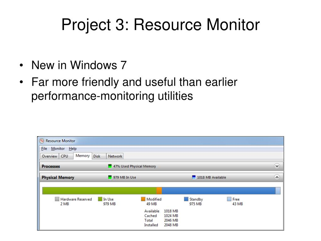 Project 3: Resource Monitor