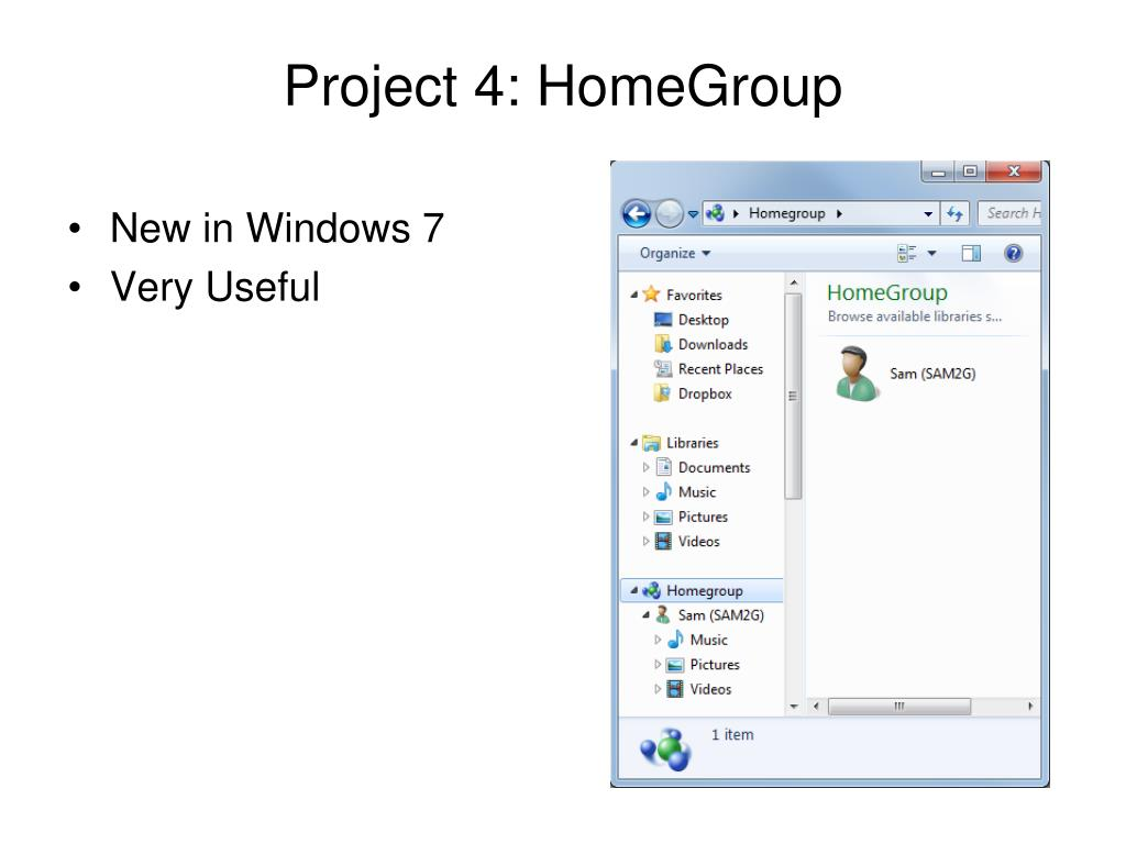 Project 4: HomeGroup