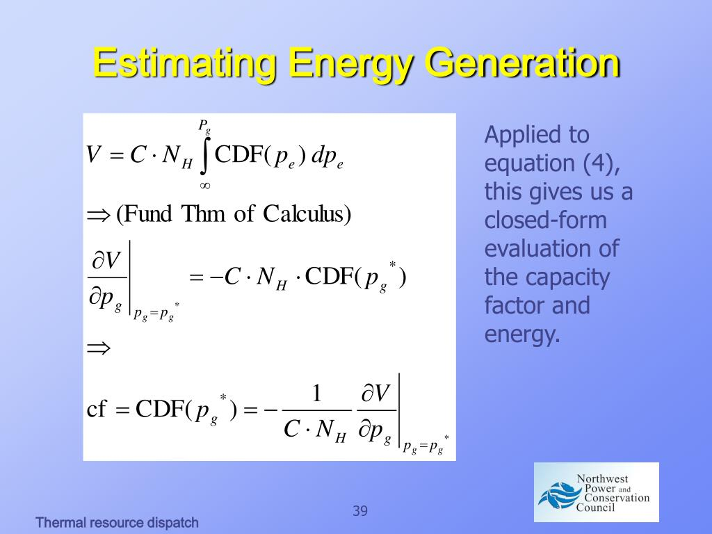Estimating Energy Generation