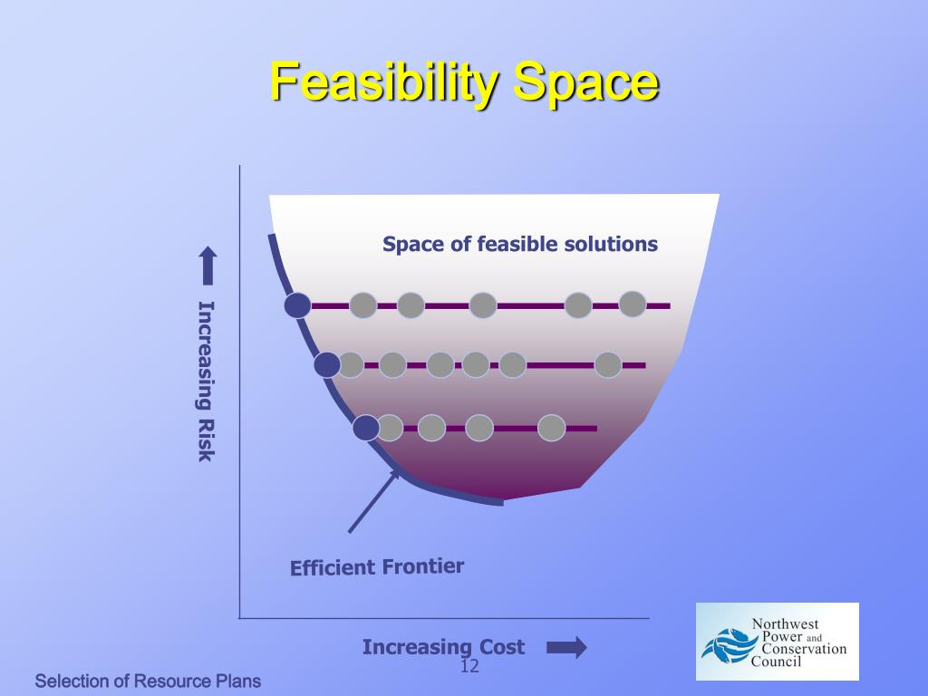 Space of feasible solutions