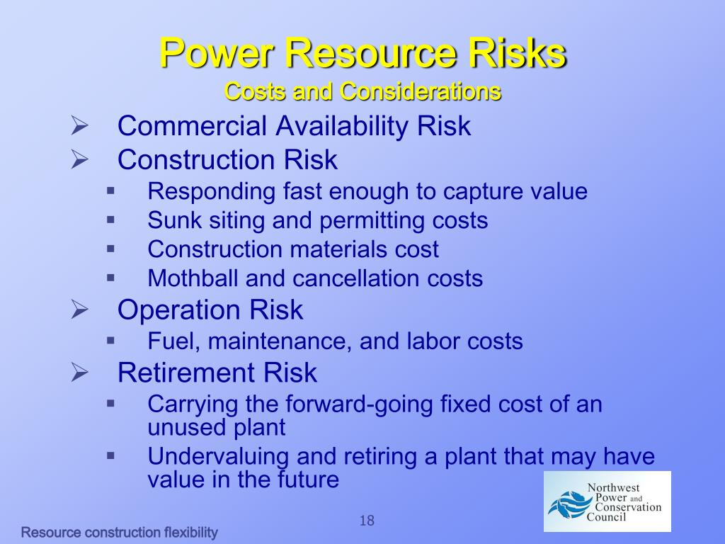 Power Resource Risks