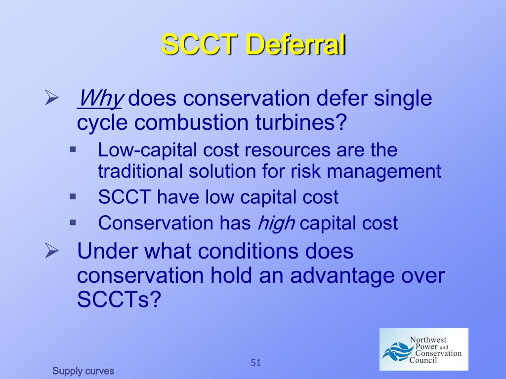 SCCT Deferral