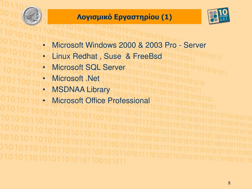 Λογισμικό Εργαστηρίου (1)