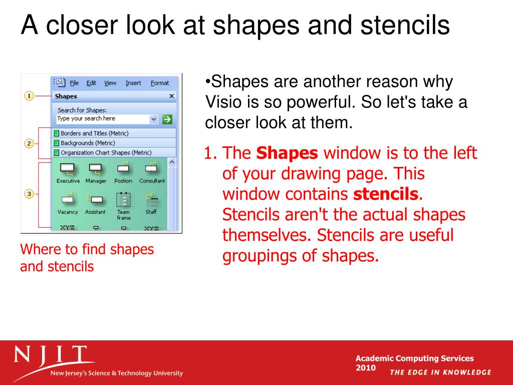 A closer look at shapes and stencils