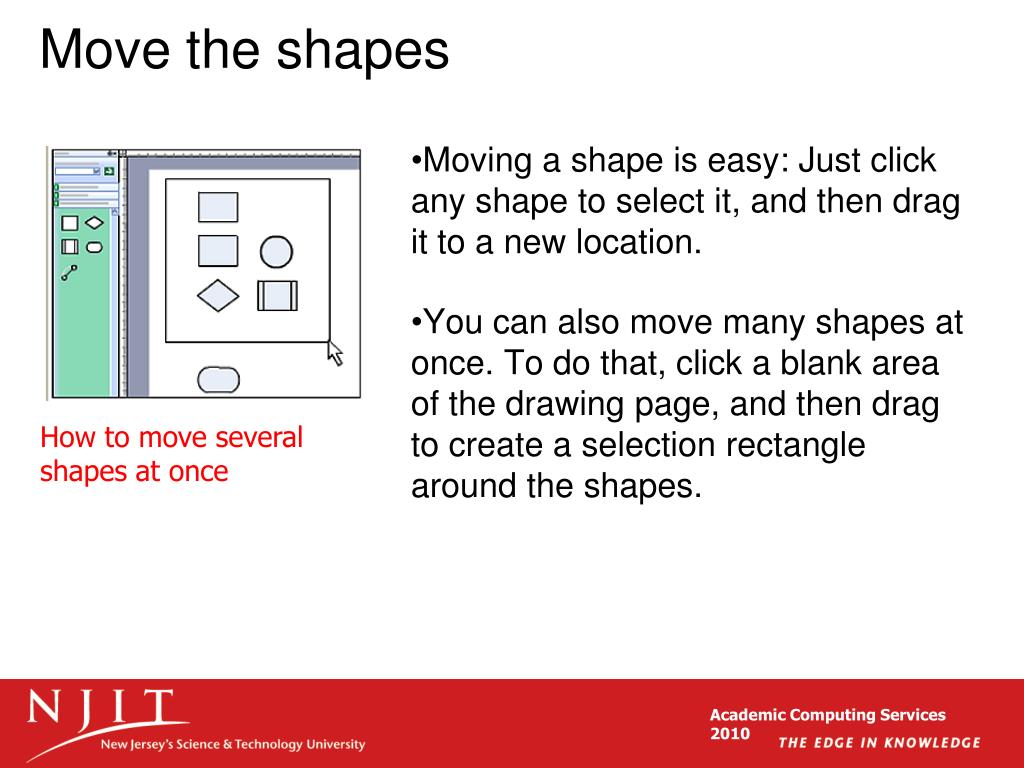 Move the shapes