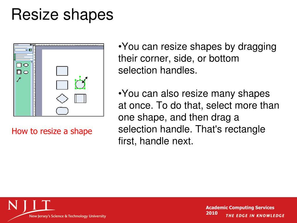 Resize shapes