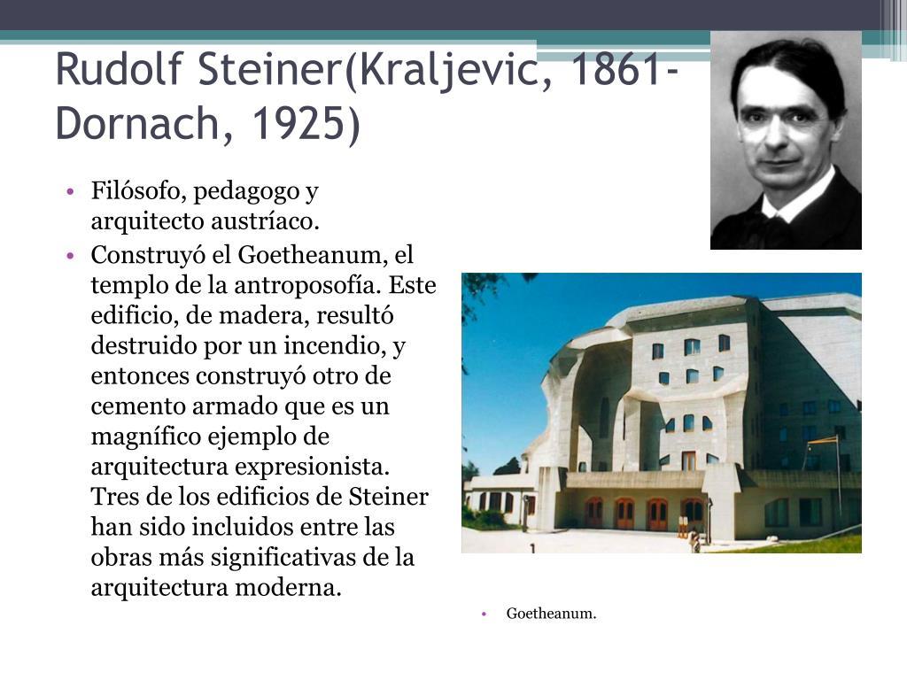Rudolf Steiner(Kraljevic, 1861-Dornach, 1925)