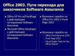 office 2003 software assurance