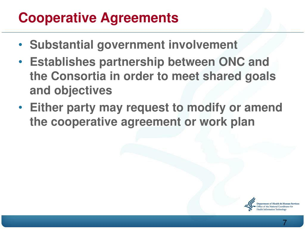 Cooperative Agreements