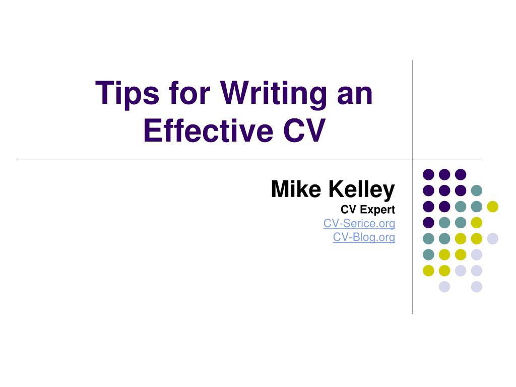 tips for writing an effective cv l.
