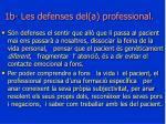 1b les defenses del a professional