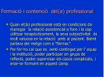 formaci i contenci del a professional