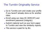 the turnitin originality service