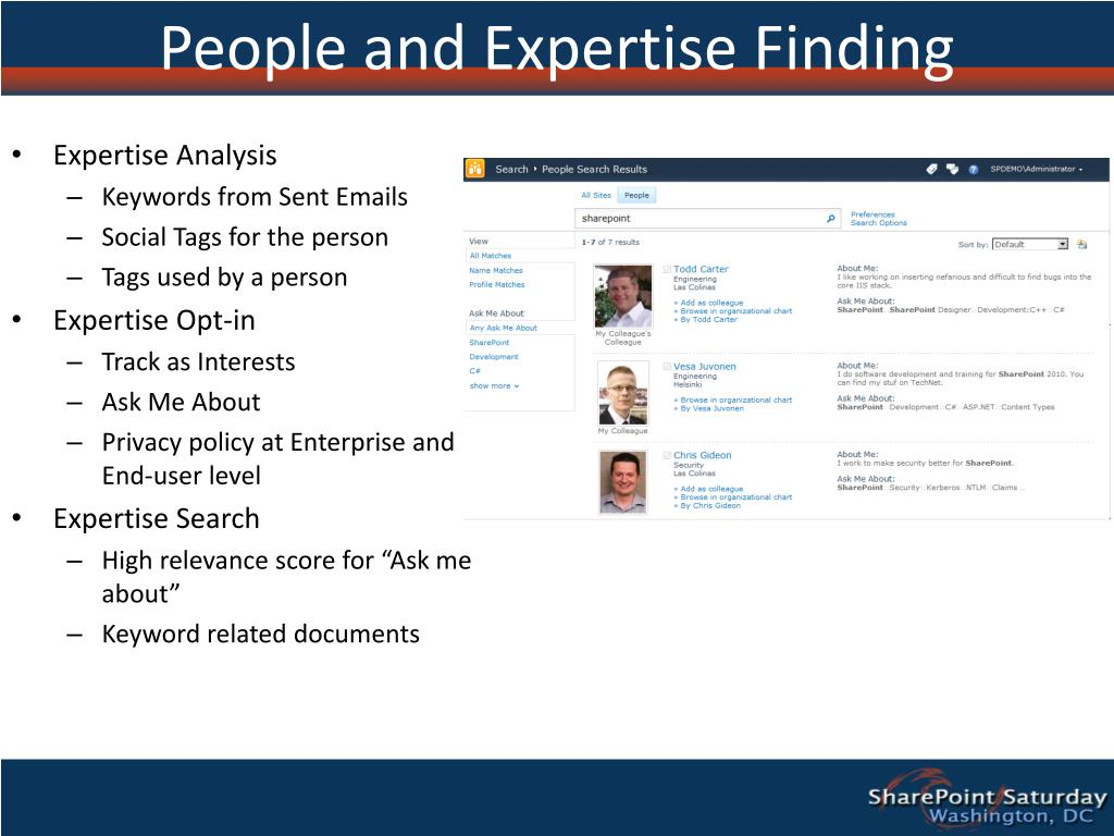 People and Expertise Finding