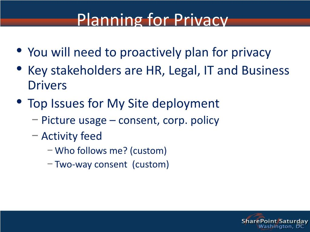 Planning for Privacy