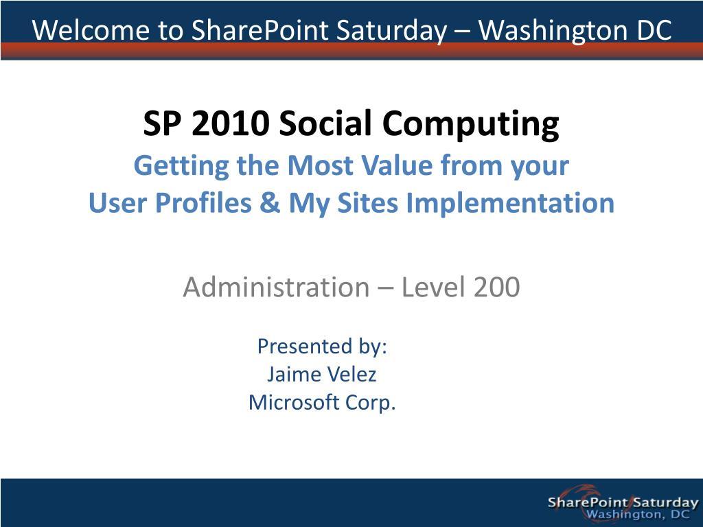 Welcome to SharePoint Saturday – Washington DC