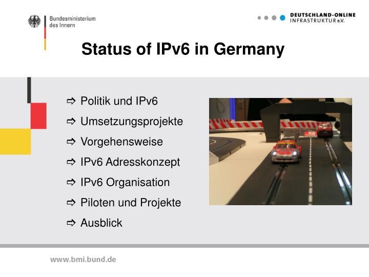 Status of ipv6 in germany