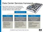 data center services framework
