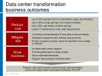 data center transformation business outcomes