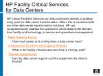 hp facility critical services for data centers