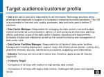 target audience customer profile