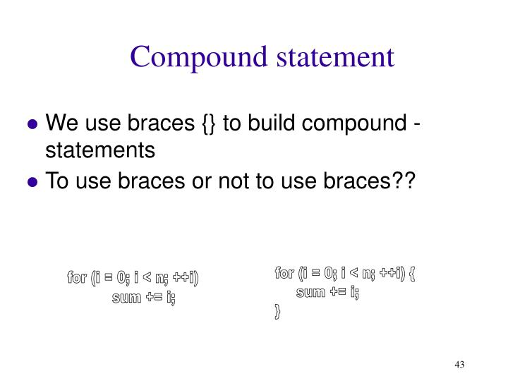 Compound statement
