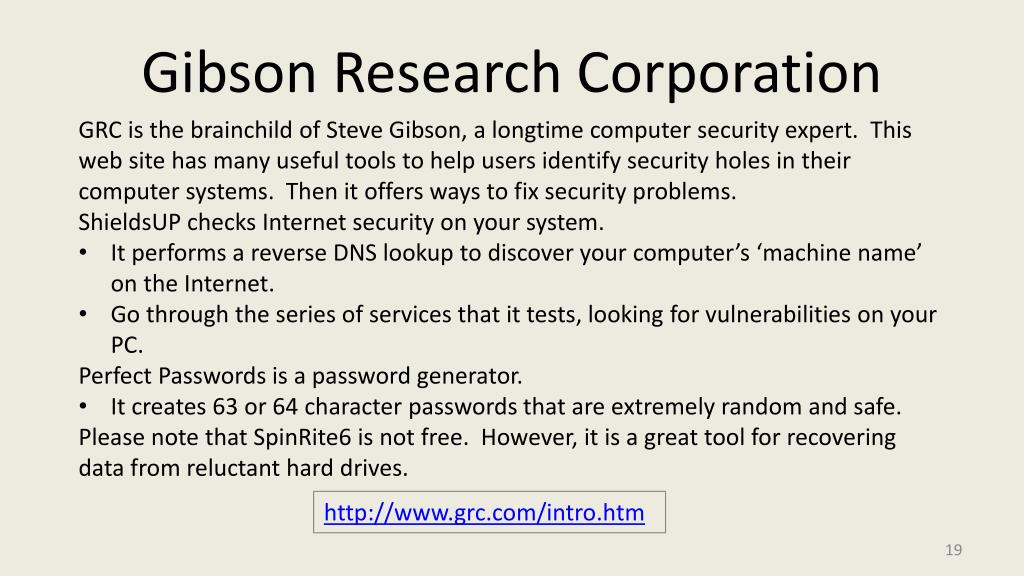 Gibson Research Corporation