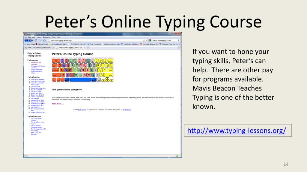 Peter's Online Typing Course