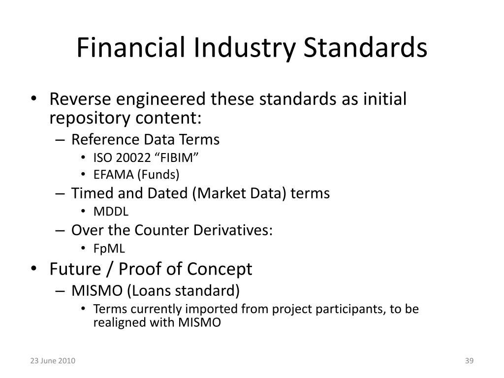 Financial Industry Standards
