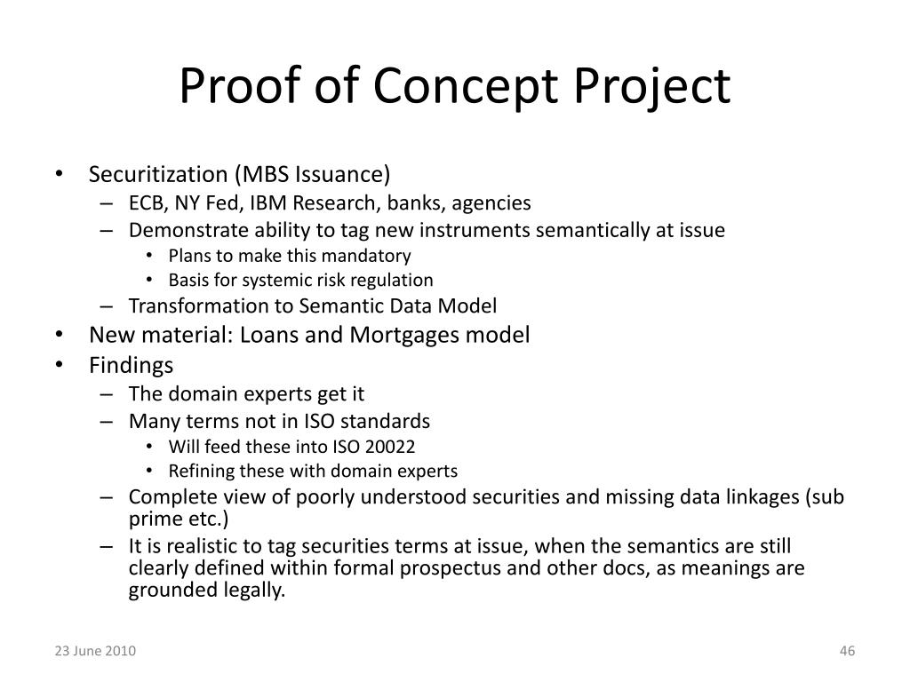 Proof of Concept Project