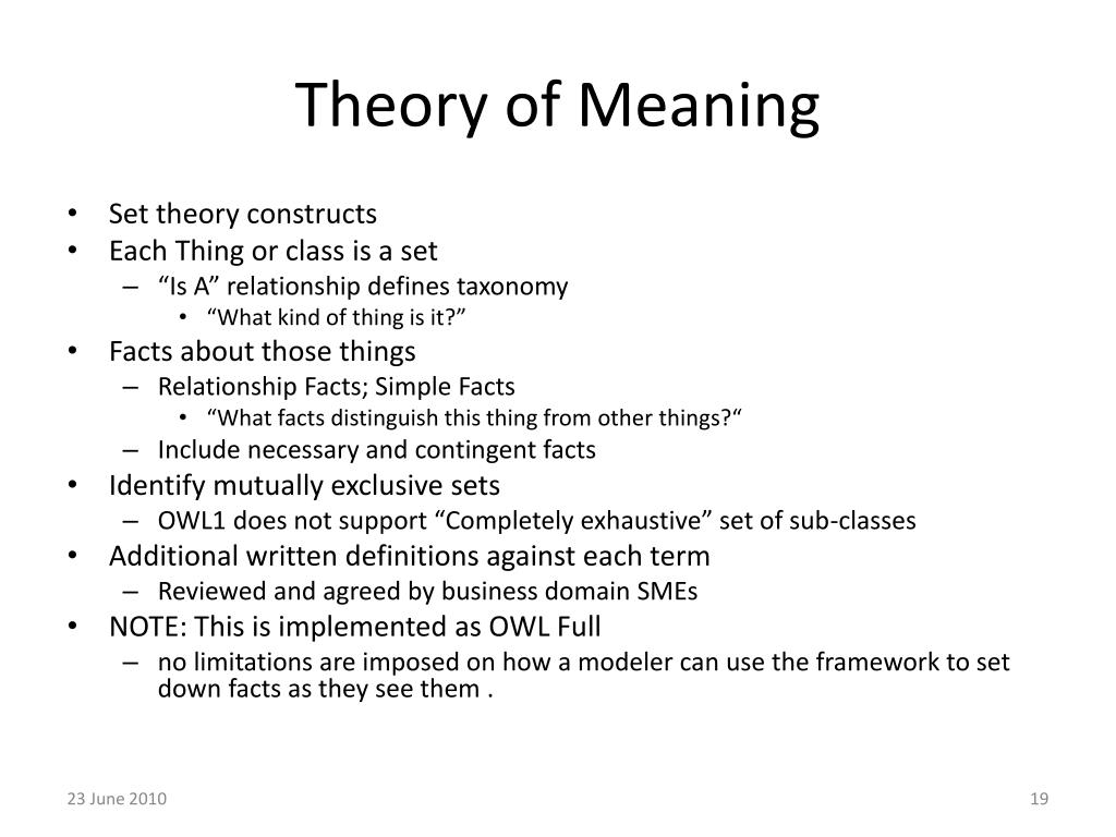 Theory of Meaning