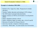danish evaluation institute 3 1999