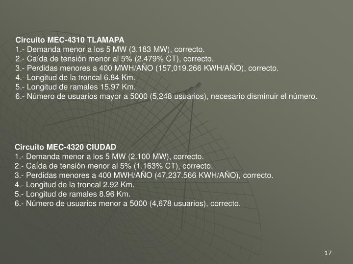 Circuito MEC-4310 TLAMAPA