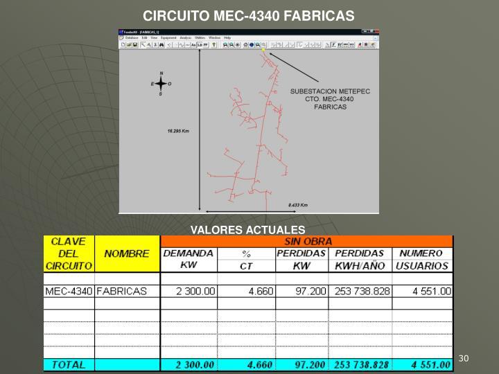 CIRCUITO MEC-4340 FABRICAS