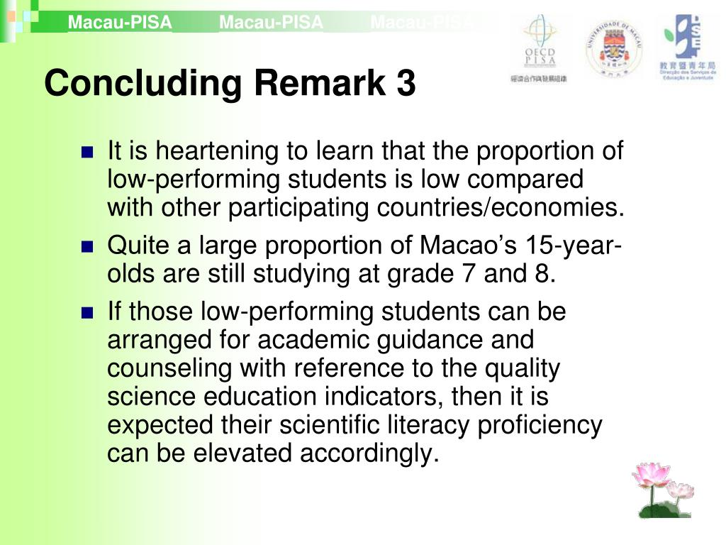 Concluding Remark 3