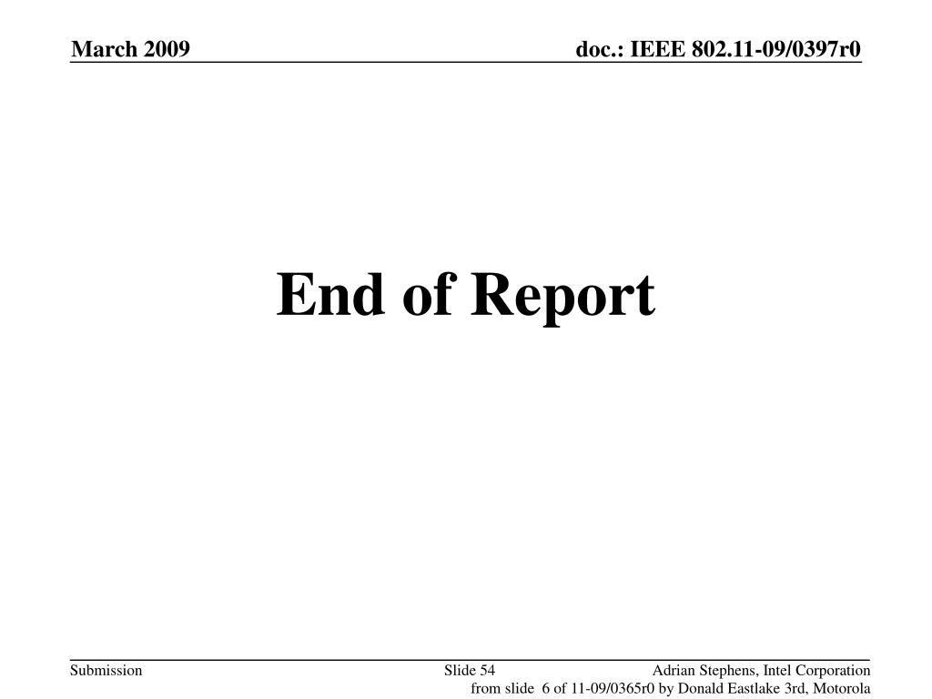 End of Report