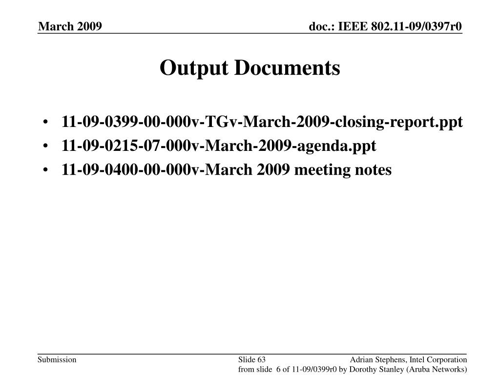 Output Documents