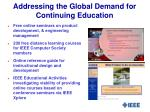 addressing the global demand for continuing education