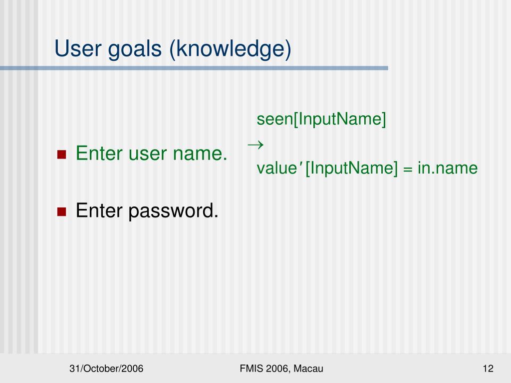 Enter user name.