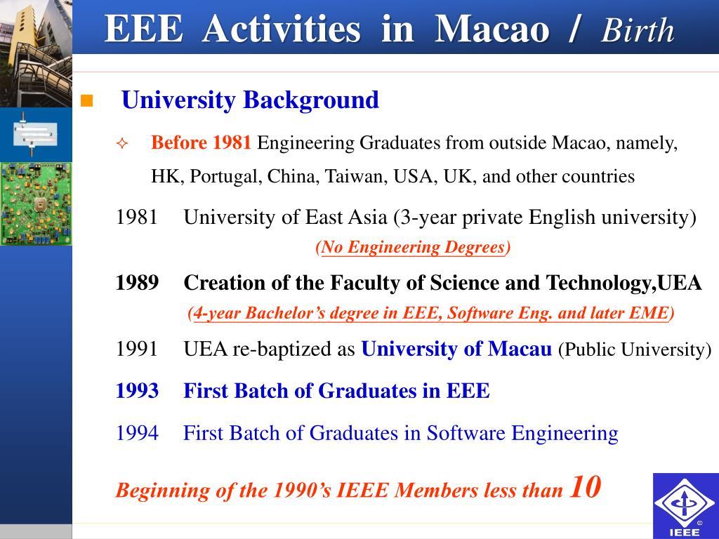 EEE  Activities  in  Macao  /