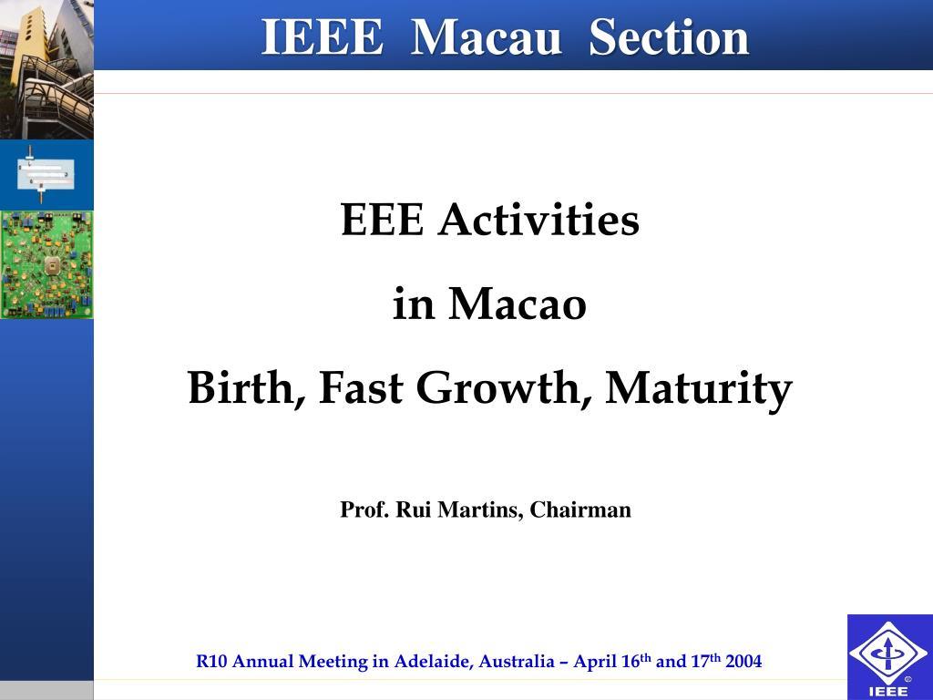 IEEE  Macau  Section