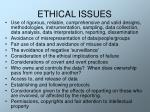 ethical issues21