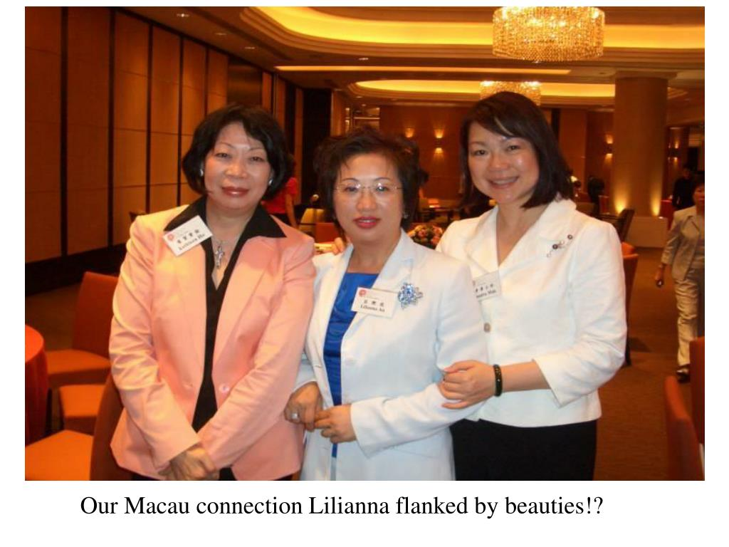 Our Macau connection Lilianna flanked by beauties!?