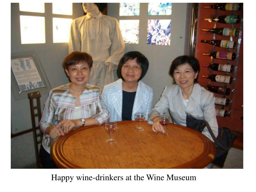 Happy wine-drinkers at the Wine Museum