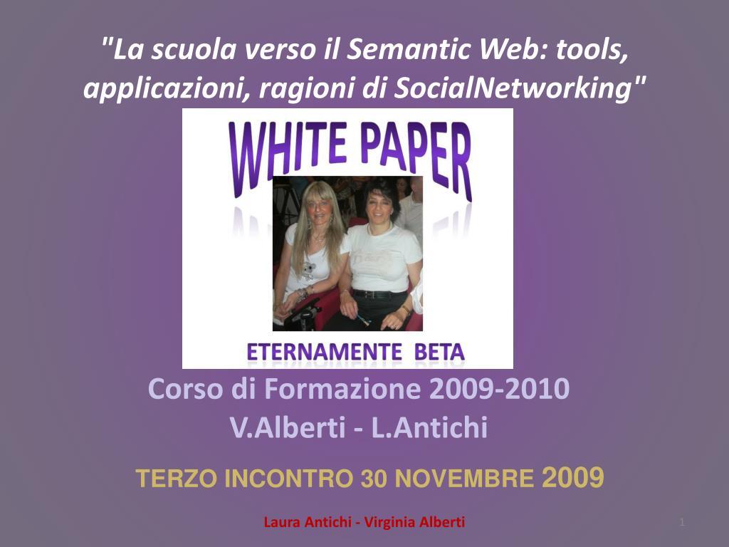 la scuola verso il semantic web tools applicazioni ragioni di socialnetworking l.