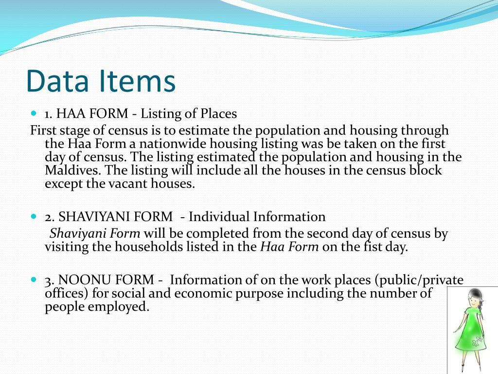 Data Items