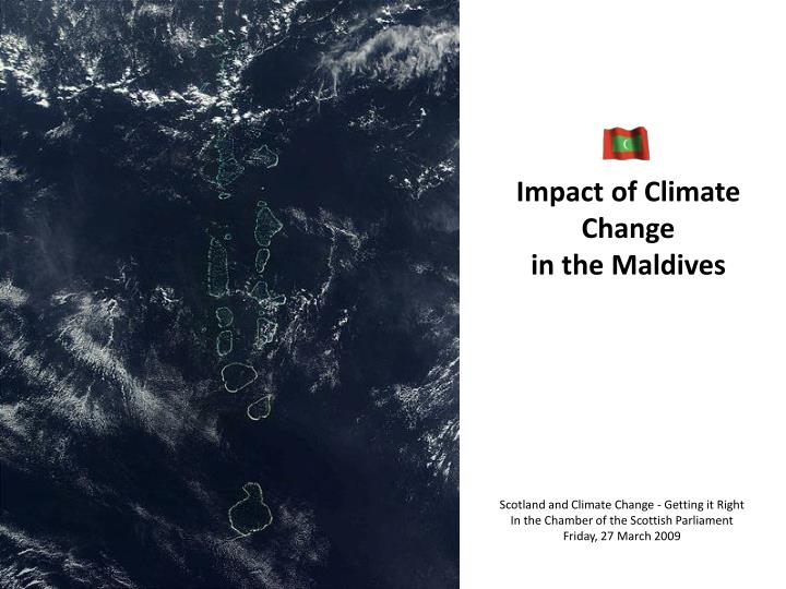 Impact of climate change in the maldives