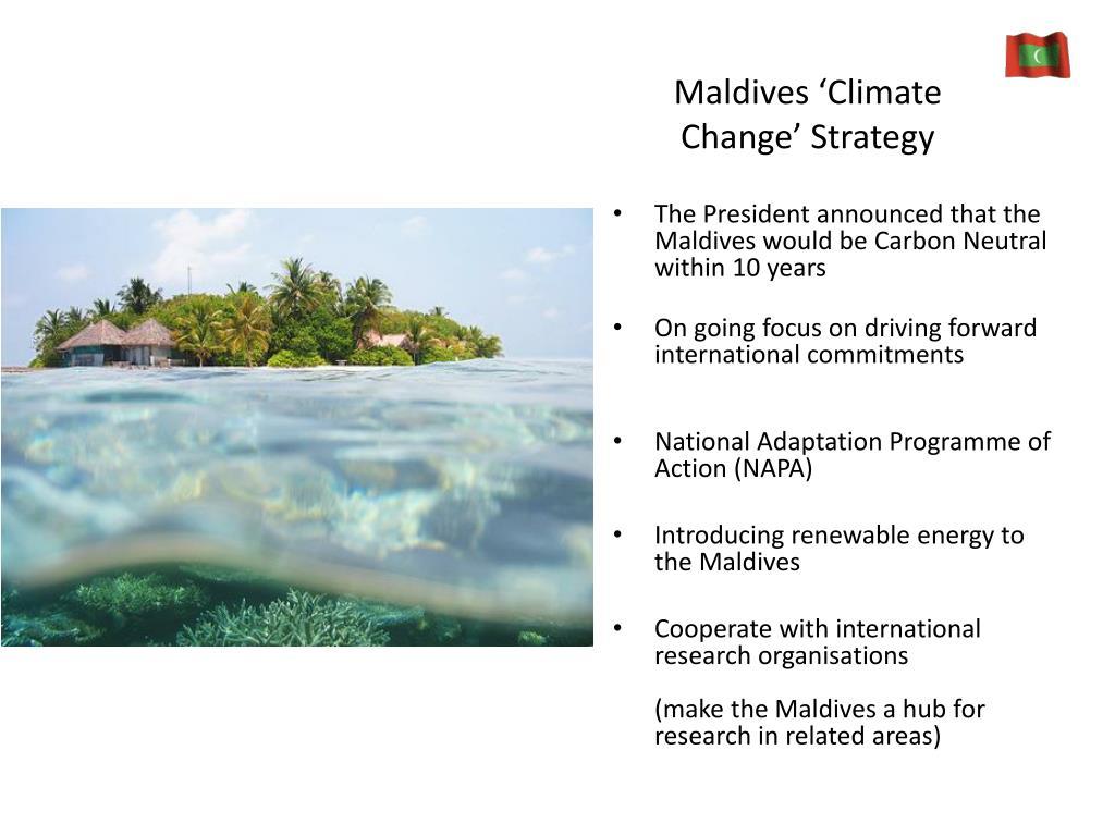 Maldives 'Climate Change' Strategy