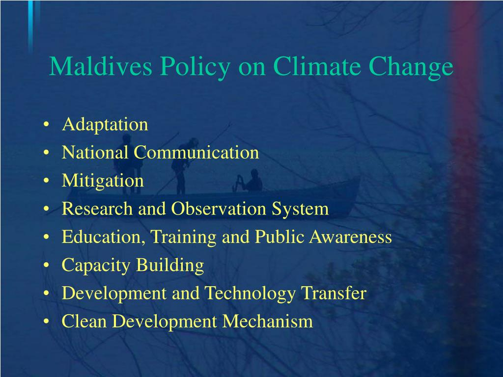 Maldives Policy on Climate Change